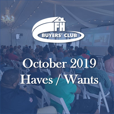 Haves & Wants October 2019