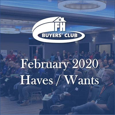 Haves and Wants February 2020