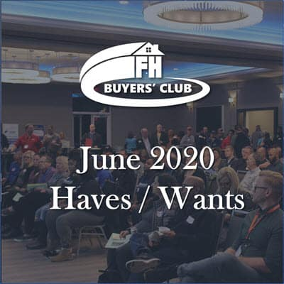 Haves and Wants June 2020