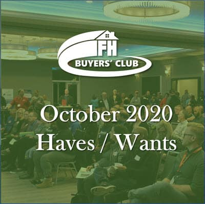 Haves and Wants October 2020