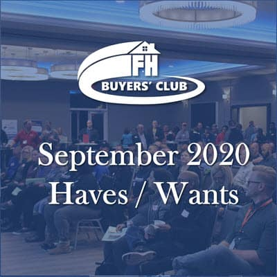 Haves and Wants September 2020