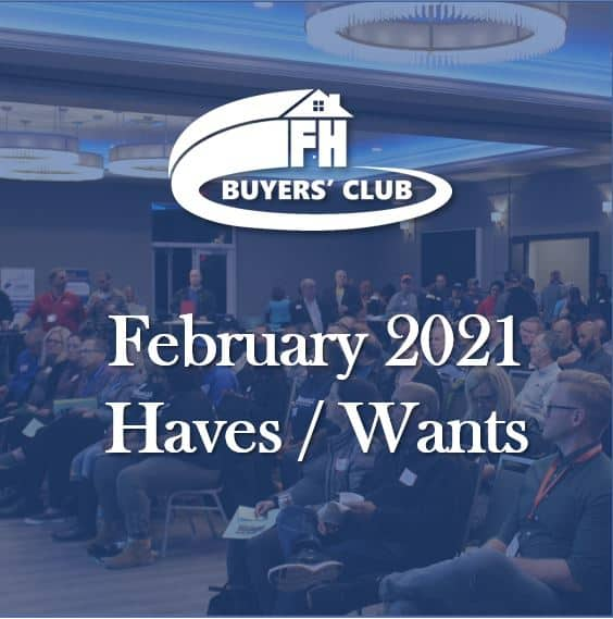 Haves and Wants February 2021