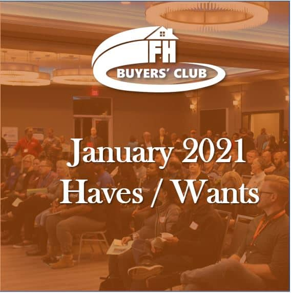 Haves and Wants January 2021